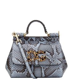 DOLCE   GABBANA Mini Sicily Embellished Python Shoulder Bag.  dolcegabbana   bags  shoulder bags  hand bags  lining  crystal  . ROZA 34971349f8dfa