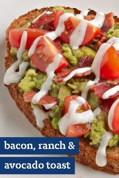 Bacon, Ranch and Avocado Toast – Discover big taste in a hurry with this savory, open-faced sandwich recipe. Ready in 10 minutes, you'll want to make this dish for a quick lunch or easy afternoon snack.