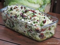 Surówka teściowej w 5 minut Best Salad Recipes, Raw Food Recipes, Diet Recipes, Vegetarian Recipes, Cooking Recipes, Healthy Recipes, Vegetable Salad, Vegetable Recipes, Veggie Dishes
