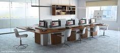 I-Rise de Craie Design, mobilier polyvalent de réunion/formation avec intégration parfaite du matériel informatique.