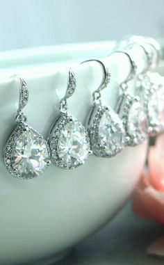 Bridesmaid earrings. Gorgeous!