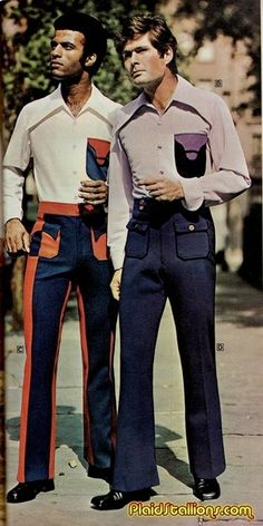 1970s menswear in polyester. Time to get serious about polyester!