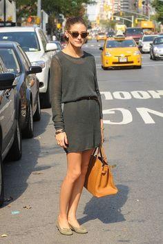 Olivia Palermo wearing Wunderkind Cat's Eye Sunglasses Hermes Birkin Bag In Tan