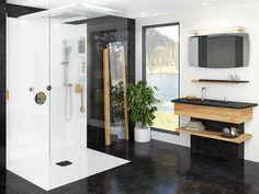 Collection Origine - Distinction - Transitional - Vanico Maronyx Sink Countertop, Countertops, Loft Bathroom, Linen Cabinet, Dishwasher Detergent, Countertop Materials, Bath Fixtures, Wood Pieces, Double Vanity