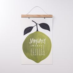 Oversized Produce Wall Calendar