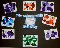 Carrie's Arts Spot: Monochromatic Painting 5th-6th Grade Lesson Plan ~ Ms. Ewalt and Mrs. Schlecht