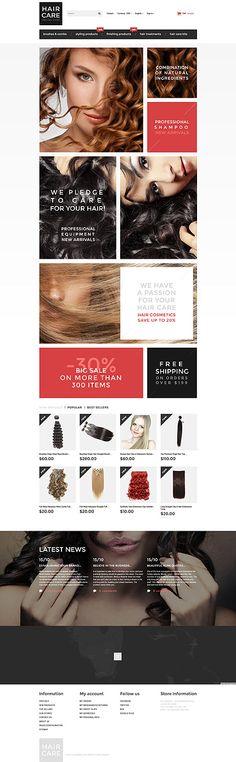 Hair Care Products Online Store #Prestashop #template. #themes #business #responsive #webshop #Prestashopthemes