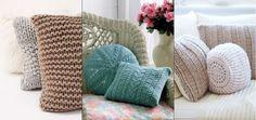 Vankúše pletené Winter Time, Throw Pillows, Bed, Toss Pillows, Cushions, Stream Bed, Decorative Pillows, Beds, Decor Pillows