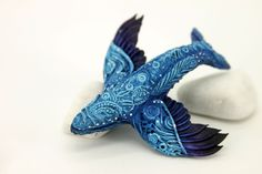 Sky Whale by hontor on DeviantArt Polymer Clay Sculptures, Polymer Clay Crafts, Animal Sculptures, Sculpture Art, Biscuit, Pottery Animals, Clay Dragon, Art Of Love, Cute Clay