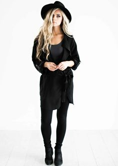 black trench coat, fall clothes, fall fashion, street style, style, fashion, womens fashion, all black outfit, ootd