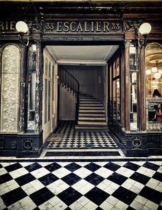 Galeria Veró-Dodat, em Paris, França. É uma passagem histórica coberta, construída em 1826, que liga as ruas Jean-Jacques Rousseau e Croix-de-Petit-Champs. Construída em estilo neoclássico, com colunas de mármore, guarnições de ouro, afrescos. Hoje lá est]ao boutiques de designe lojas de antiguidades.