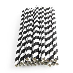 25x Colorful Colored Striped Paper Straws for Wedding Birthday Party Drinking | eBay