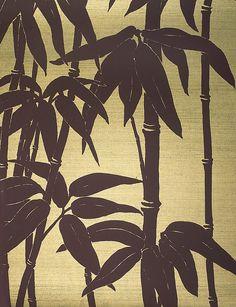 Japanese Bamboo Dark Brown - Fbw/c002 -  Florence Broadhurst Design