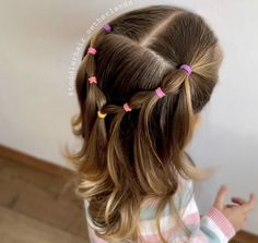 Причёска Toddler Hairstyles Girl Причёска # fancy Braids for kids Toddler Hair Dos, Easy Toddler Hairstyles, Easy Little Girl Hairstyles, Cute Hairstyles For Kids, Pretty Hairstyles, Easy Hairstyles, Korean Hairstyles, Girl Toddler, Hairstyles Haircuts