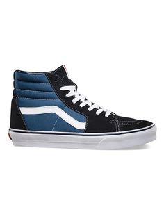 4662c836c601 Vans Suede Canvas SK8-HI Skate Shoes - Navy