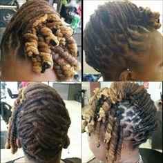Maintenance flat braid n pipe curls. .
