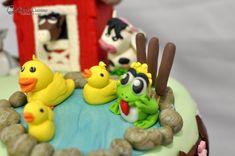 Ferma animalelor - tort cu mousse de visine Cake, Desserts, Food, Tailgate Desserts, Deserts, Kuchen, Essen, Postres, Meals