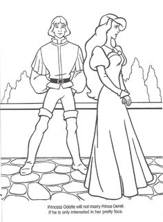 Barbie of swan lake coloring pages ~ Odette the Swan Princess coloring page | Odette the Swan ...