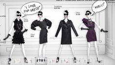 "LANVIN for H&M, (Website Screenshot), ""I LOVE YOUR DRESS!"", pinned by Ton van der Veer"
