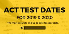 8 Best ACT TEST DATES and College Info images in 2017 | Act