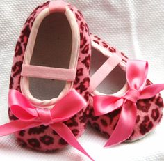 Pink Leopard Booties  baby shoes by SummerJadeBoutique on Etsy, $10.75 ****