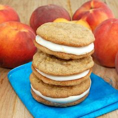 Peach Whoopie Pies with Peach Cream Cheese Filling