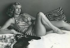 Anita Ekberg, a Swedish actress, model, and sex symbol. She is best known for her role as Sylvia in the Federico Fellini film La Dolce Vita. photographed by Andre de Dienes, 1955 Anita Ekberg, Ursula Andress, Shirley Jones, Seigner, Photo Star, Swedish Actresses, Actrices Sexy, Vintage Gentleman, Marc Bolan