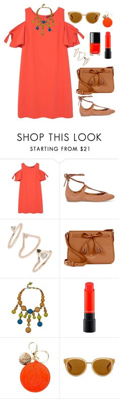 """""""Untitled #1816"""" by ebramos ❤ liked on Polyvore featuring Violeta by Mango, Chloé, Topshop, Kate Spade, MAC Cosmetics, Louis Vuitton and Draper James"""