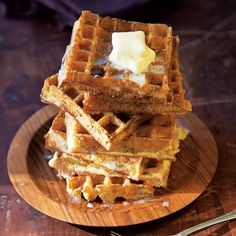 Marion Cunningham's Yeast-Raised Waffles - A last-minute addition of baking soda to the batter makes these classic waffles especially airy and crisp.need to make batter the night before. Diner Recipes, Waffle Recipes, Brunch Recipes, Breakfast Recipes, Diner Food, Breakfast Ideas, Brunch Ideas, Dinner Ideas, Healthy Snacks
