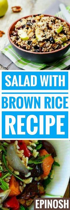 Salads with Brown Rice ~~ that a good salad is the best option to take a healthy, balanced and also fresh food.
