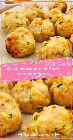 ZUTATEN ( 16 Portionen ): 1 Zucchini 2 Eier Mandelmehl (hell) Kokosm… – Keep up with the times. Easy Snacks, Keto Snacks, Healthy Snacks, Easy Meals, Zucchini, Law Carb, Menu Dieta, Low Carb Lunch, Paleo Breakfast