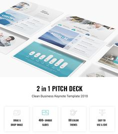 Bundle 2 in 1 Pitch Deck  Clean Business Keynote Template 2018 — Keynote KEY #animated #pitch • Download ➝ https://graphicriver.net/item/bundle-2-in-1-pitch-deck-clean-business-keynote-template-2018/21696423?ref=pxcr