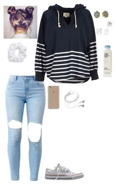"""""""Untitled #111"""" by halseytrashh ❤ liked on Polyvore featuring Band of Outsiders, Converse, Charlotte Russe, Kendra Scott, Natasha Couture, Agent 18 and Samsung"""
