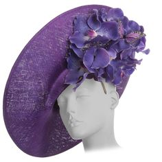 "Philip Treacy Sinamay Side Slice Hat ""Orchid Collection"" Circa 2012 