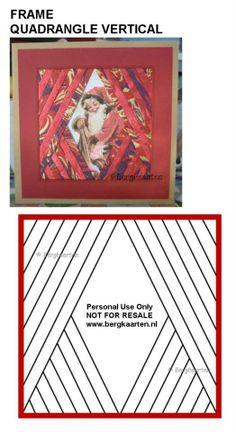 Iris Folding : Quadrangle Vertical Frame