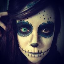 make up, mexican skull, halloween 2013
