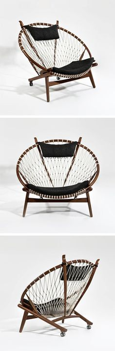 Loop Chair | dotandbo.com everything you want from a hanging chair without needing to suspend it for those with vaulted ceilings | EB & Kris