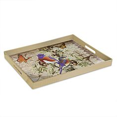 @Overstock - Serve up some style with this Notions Blubird serving tray from Accents by Jay. A rectangular design and a durable construction complete the contemporary design of this tray.http://www.overstock.com/Home-Garden/Accents-by-Jay-Notion-Bluebirds-Serving-Tray/6743277/product.html?CID=214117 $21.14