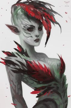 Sylvari, Sandra Duchiewicz on ArtStation at https://www.artstation.com/artwork/sylvari-b79965f6-5870-4657-96d0-7219a1cae2be