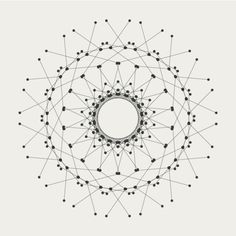 Beautiful composition using dots, circles and lines-evoking the sense of a harmonious network