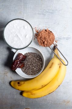 Zutaten für schokoladigen Chia Pudding #Dessert #Frühstück #gesund