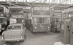 Inside Aylesbury Bus garage with our first VRT (752) in it's original form| Flickr - Photo Sharing!