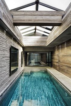 Long and narrow indoor pool in this Italian mansion | Home ...