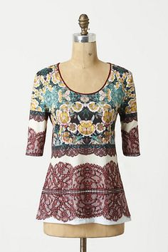 Magnetic Fields Tee #anthropologie    pretty, but why polyester, anthro?