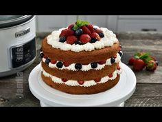 Tort naked cu fructe la Crock-Pot | JamilaCuisine - YouTube Romanian Food, Crockpot, Waffles, Cheesecake, Cooking Recipes, Breakfast, Desserts, Naked, Mai