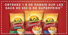 Economisez 1 $ sur votre prochain achat de Superfries de McCain !
