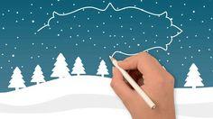 Снеговики, рисованное видеопоздравление с вашим текстом на заказ!