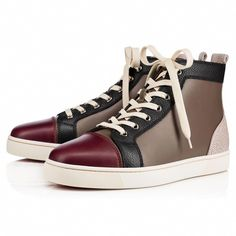 805edb70f7ef CHRISTIAN LOUBOUTIN Louis Men S Flat Version Mastic Leather - Men Shoes - Christian  Louboutin.