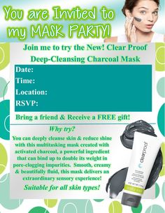 **Freebie** Editable Charcoal Mask Party Invite!