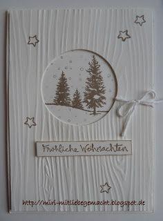 Weihnachtskarte mit Stampin Up Produkten